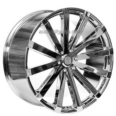 "24"" Velocity Wheels VW12 Chrome Rims 24x8.5"