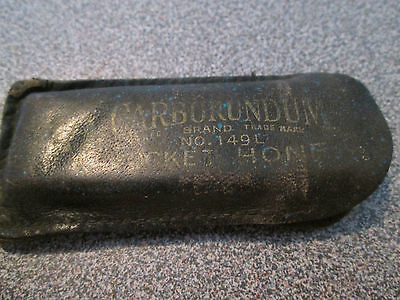 Carborundum Pocket Honeing Stone no 149L with Leather Case