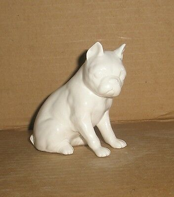 Dog Figurine Boston Terrier Puppy