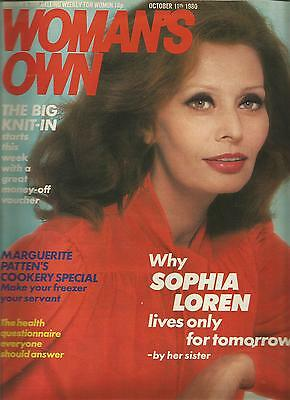Woman's Own October 11th 1980 Why Sophia Loren Lives Only For Tomorrow