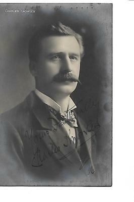 Charles Knowles. Singer?  Signed. Autograph. R/P.