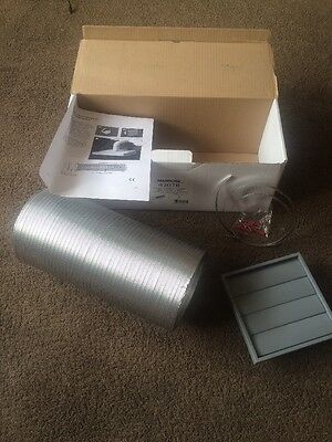 """Manrose Cooker hood kit Kitchen Fan Extract hood with Ducting 150mm 6"""" 43078"""