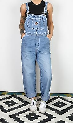 Dungarees UK 10 Small Fitted Oversized 8 XS Denim Mid Blue (ABH)