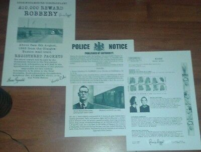 The Great Train Robbery 1963 Wanted Posters. Set Of 3. Biggs. Edwards. Reynolds.
