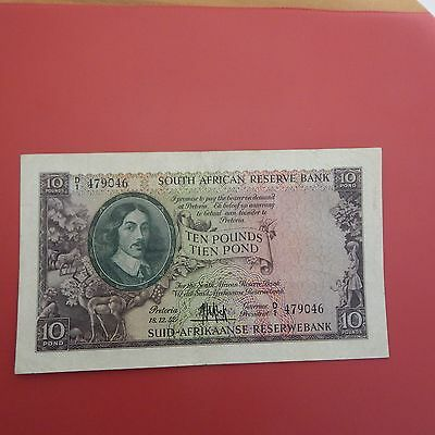 1952 South Africa £10 note