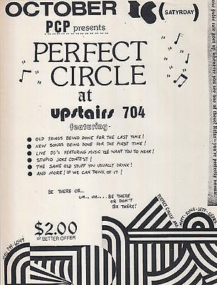 Perfect Circle @ Upstairs 704 - Washington DC - Punk Flyer  - October 16th