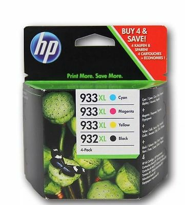 Set of 4 Genuine HP 932XL 933XL Inks OfficeJet 6100,6600,6700 - £10 cashback!*
