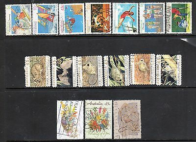 Australia - 16 USED Stamps Issued 1989 -1992