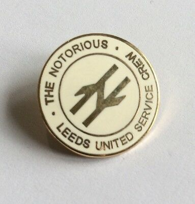 Leeds United Football Club Badge FC Utd NOTORIOUS SERVICE CREW FIRM CASUALS 1