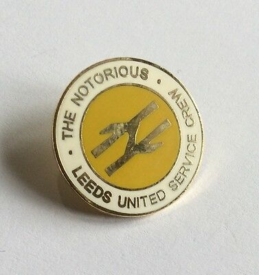 Leeds United Football Club Badge FC Utd NOTORIOUS SERVICE CREW FIRM CASUALS 2
