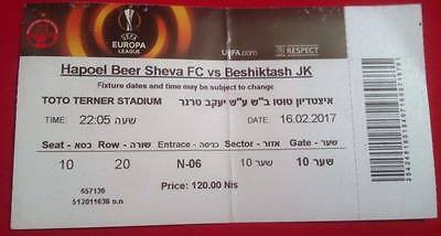 Ticket Hapoel Beer Sheva v Besiktas Turkey 16.02.2017 Europa League