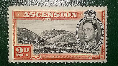 ASCENSION ISLAND KGVI King George VI SG41a 'Line on The Mountain' MM FLAW