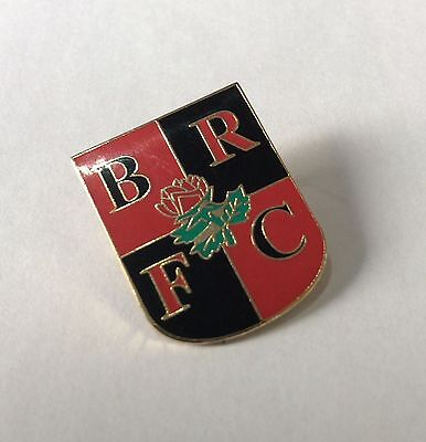 BLACKBURN ROVERS Football Club Badge FC ENAMEL BRFC AWAY COLOURS SUPPORTERS PIN