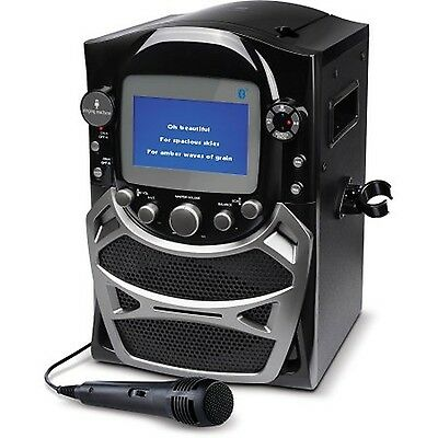 """Singing Machine CD+G Karaoke Bluetooth System with Built-In 5"""" Color TFT Moni..."""
