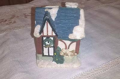 Ornate Cottage Ornament/mice Scene Inside With Hinge Opening