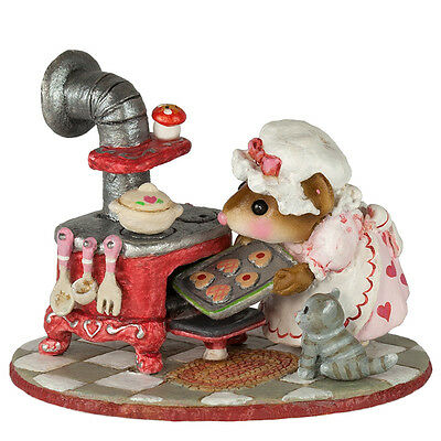 LOVIN' THE OVEN by Wee Forest Folk, WFF # M-604 Valentine Cooking Mouse