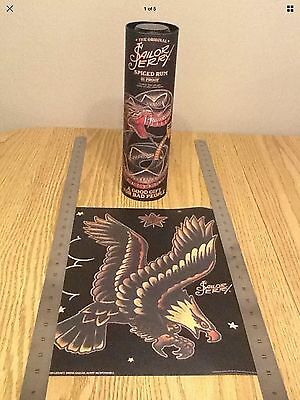 "2016 Sailor Jerry Spiced Rum Mini Poster / Print with Tin / Canister ""Eagle"""