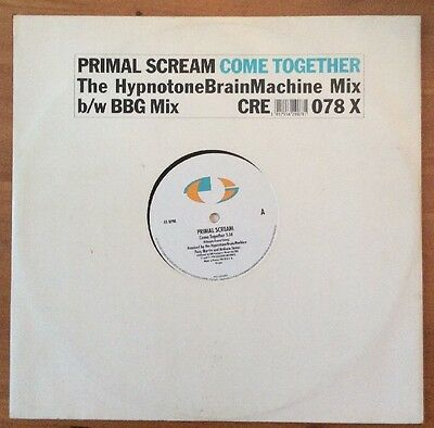 "Primal Scream Come Together 12"" vinyl single (CRE078X) CREATION 1990 UK"