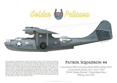Print PBY Catalina, Ens. Jack Reid, VP-44, Battle of Midway (by G. Marie)