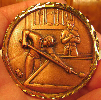 1989 Great Yarmouth Large Heavy Snooker Medal. 61mm. Cased.