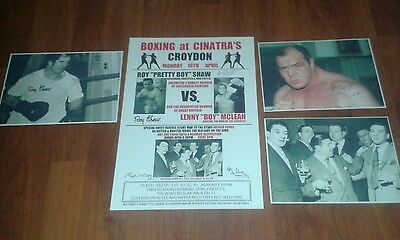 Lenny Mclean Vs Roy Shaw Signed Boxing Poster With The Krays & Signed Pictures.
