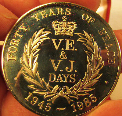 VE & VJ Days. Forty Years of Peace. Coin/ Medal. Cased.