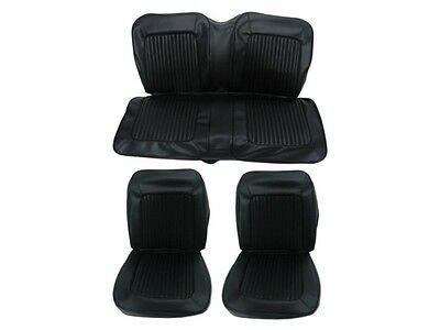 PG Classic 6615-BUK-100 1967 Plymouth Barracuda Fastback Seat Cover Set (Black)