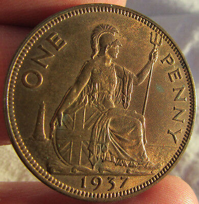 George VI One Penny. Looks Uncirculated.
