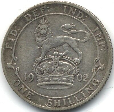 1902 Edward VII Silver One Shilling***Collectors***