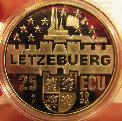 Silver Proof Luxembourg 1995 25 ECU. UK Pay Only One Postage.