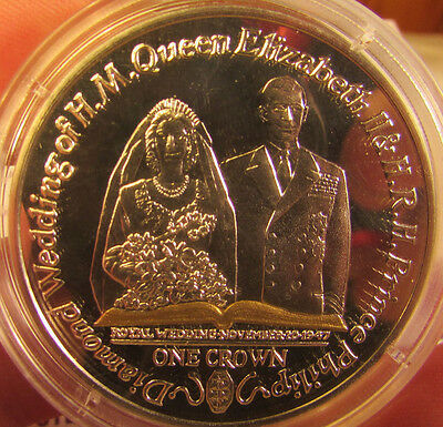 Silver Proof Isle of Man Royal Wedding One Crown. UK Pay Only One Postage.