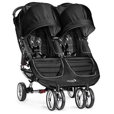 Baby Jogger 2016 City Mini Double Stroller – Black/Gray – NEW