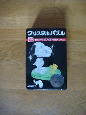 Coffret Crystal Puzzle 3D Neuf Snoopy 41 Pieces