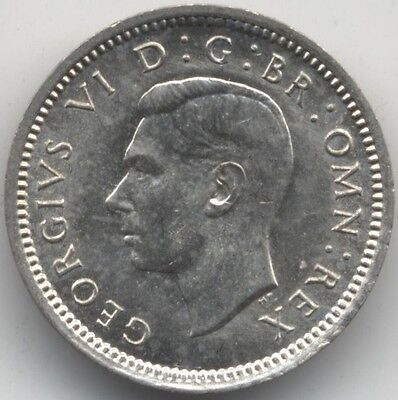 1943 George VI Silver Threepence***Collectors***Key Date***