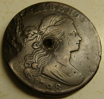 Draped Bust Usa 1798 Large Cent Scarce
