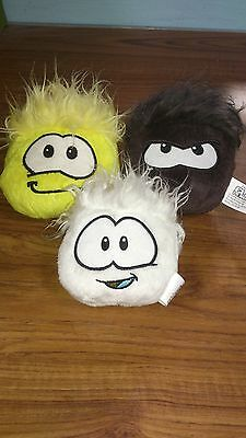 Set Of 3 Disney Club Penguin Puffles
