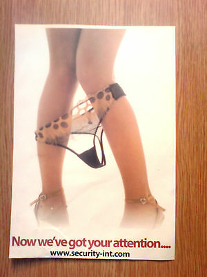 genuine saucy glossy advert from a magazine 11x8 inches