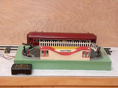 American Flyer Guilford Animated Station 766 and 735 Car