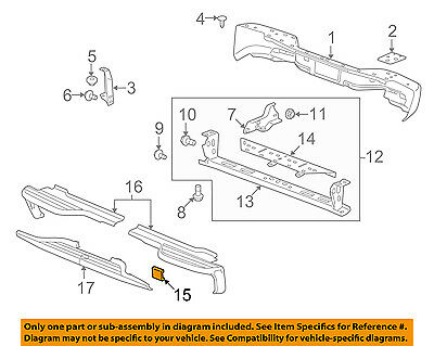 GM OEM Rear Bumper-Access or Tow Hitch Cover Panel 15811584