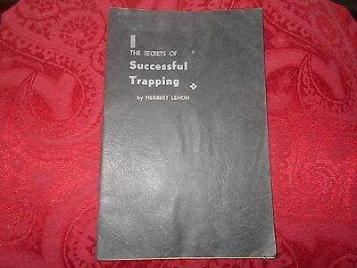 The Secrets Of Successful Trapping By Herbert Lenon, Traps