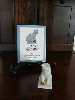 Franklin Mint**Curio Cabinet Cats**BLANC DE CHINE* With Brochure 2nd Series MINT