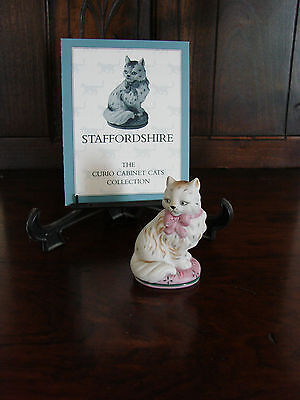 Franklin Mint**Curio Cabinet Cats**STAFFORDSHIRE** With Brochure 1st Series MINT