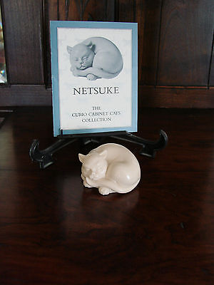 Franklin Mint**Curio Cabinet Cats**NETSUKE** With Brochure 1st Series MINT