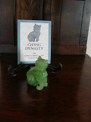 Franklin Mint**Curio Cabinet Cats**CH'ING DYNASTY* With Brochure 1st Series MINT
