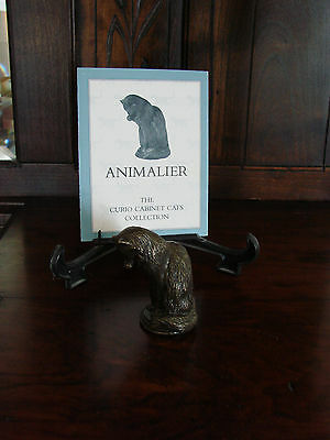 Franklin Mint**Curio Cabinet Cats**ANIMALIER** With Brochure 1st Series MINT