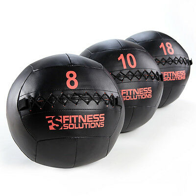 Wall Ball 12 LB Fitness Solutions Med Ball Medicine weighted fitness Ships Free!