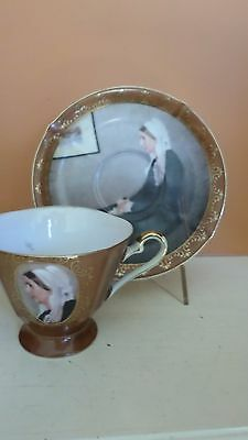 Vintage Porcelain Cup And Saucer With Whistler'S Mother