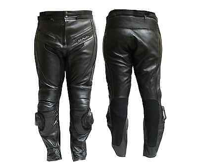 Motorcycle Motorbike Leather  Trouser BLACK 9200