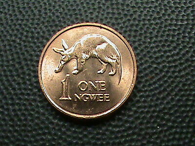ZAMBIA   1  Ngwee    1983    BRILLIANT  UNCIRCULATED  ,  AARDVARK
