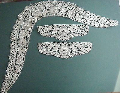 Antique Lace Collar And Cuff Set Handmade??